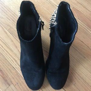 Zara Black Studded Boots Fall Winter 2012